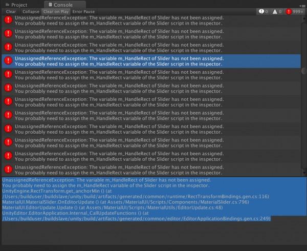 UnassignedReferenceException error on EditorUpdate in Unity